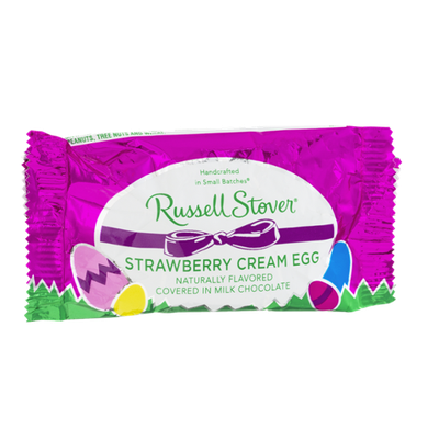 Russell Stover Strawberry Cream Egg in Milk Chocolate