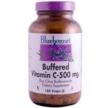 BlueBonnet Buffered Vitamin C 500 mg Vegetable Capsules, 180 Count
