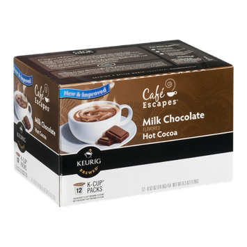 Cafe Escapes Milk Chocolate Hot Cocoas K-Cup - 12 CT