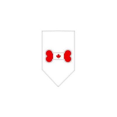 Ahi Bone Flag Canadian Screen Print Bandana White Large