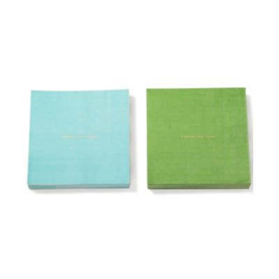 Kate Spade kate spade new york Small Talk Soiree Blue and Green Cocktail Paper Napkins