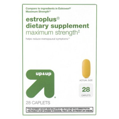 up & up up&up Estroplus Maximum Strength Menopause Support Caplets - 28 Count