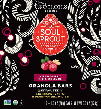 Two Moms In The Raw GRN BAR, OG1, CRNCHIA CRNCH, (Pack of 6)