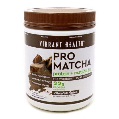 Pro Matcha Chocolate Protein Vibrant Health 20.6 oz Powder