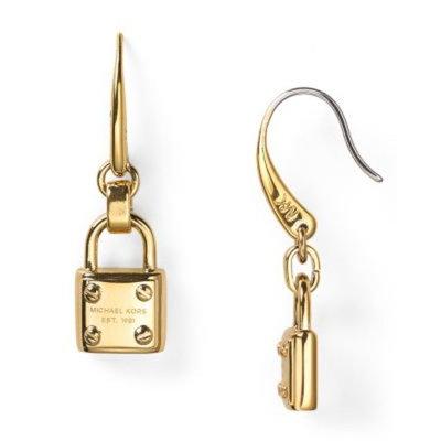 Michael Kors Padlock Drop Earrings