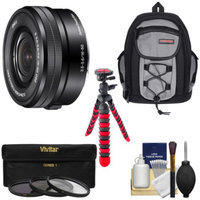 Sony Alpha E-Mount 16-50mm f/3.5-5.6 OSS PZ Zoom Lens with Backpack + 3 Filters + Tripod + Kit for A7, A7R, A7S, A3000, A5000, A5100, A6000 Cameras