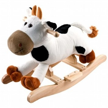 Happy Trails Connie Cow Plush Rocking Animal with Sounds