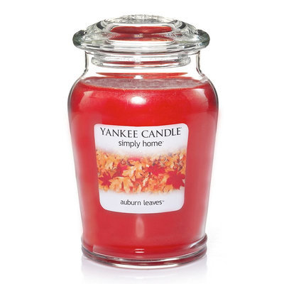 Yankee Candle simply home Auburn Leaves Large Jar Candle (Orange)