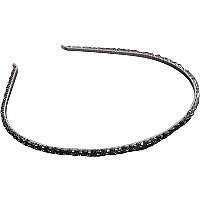 Karina Beaded Hematite Headband
