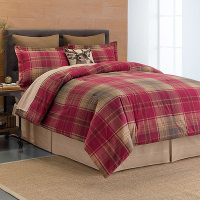 Cuddl Duds Plaid 6-pc. Flannel Comforter Set (Red)