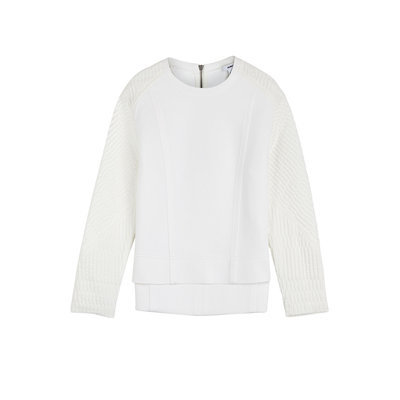 Helmut Lang Textured Sweatshirt - white