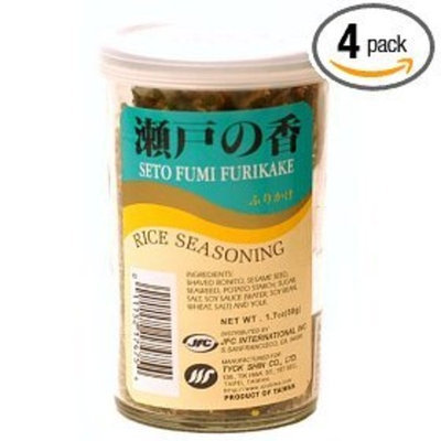 JFC Seto Fumi Furikake Rice Seasoning, 1.7-Ounce Jars (Pack of 4)