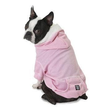 PetRageous Designs Bentley's Fur-lined Pet Hoodie, Size: S (Pink)