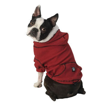 Pet Rageous Designs PetRageous Designs Bentley's Fur-lined Pet Hoodie, Size: XL (Red)