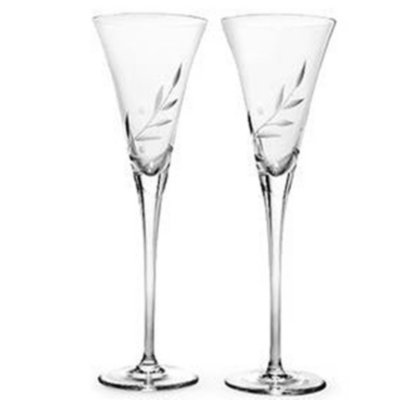 Closeout! Lenox Stemware, Opal Innocence Toasting Flutes, Set of 2