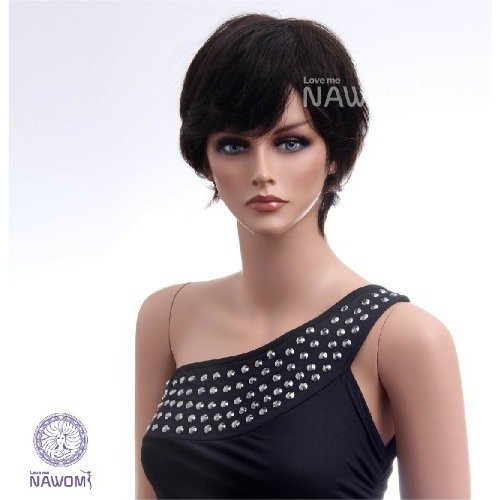 Annie women wigs100 human hair wigs for women short black wigs realistic wigs natural looking wigs cheapest wigs TB1089-2