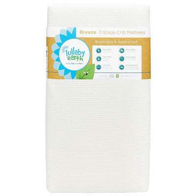 Lullaby Earth Breeze 2-Stage Crib Mattress in White