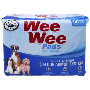 Four Paws Wee-Wee Puppy Pads, 50 count 22 L X 23 W