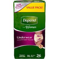 Depend For Women Underwear Large