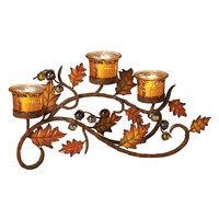 Kohls Metallic Leaf Tealight Candle Holder (Mercury)