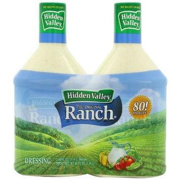 Hidden Valley Homestyle Hidden Valley The Original Ranch Dressing, Homestyle, 2-Count Bottle, 80 fl oz Total