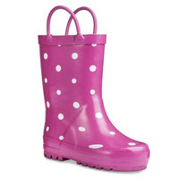 Washington Shoe Company Toddler Girl's Novel Dot Rain Boots - Pink S (7-8)