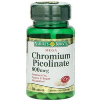 Nature's Bounty Mega Chromium Picolinate 800 Mcg., 50 Tablets