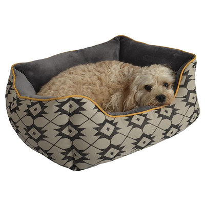Pet Spaces Print Small Rectangle Cuddler Pet Bed (Flannel)