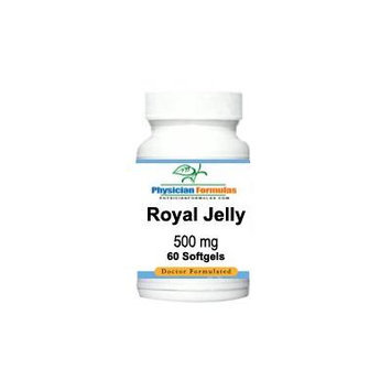 Royal Jelly Supplement 500 Mg, 60 Softgels - Endorsed by Dr. Ray Sahelian, M.D