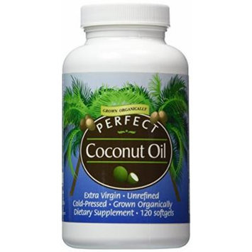 PERFECT COCONUT OIL - Purest ORGANIC Extra-Virgin Unrefined COLD-Pressed Coconut Oil ~ 120 - 1000mg Softgels