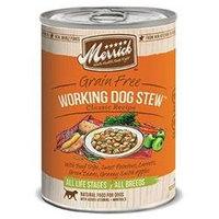 Merrick Can Dog Working Dog Stew 13.2 oz Case 12
