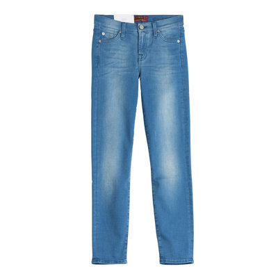 Seven for all Mankind Stretch Cotton Skinny Jeans - blue