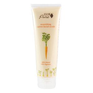 100% Pure Facial Scrub, Carrot, 3.5 oz