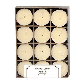 Kohls Unscented 12-piece Votive Candle Set, White