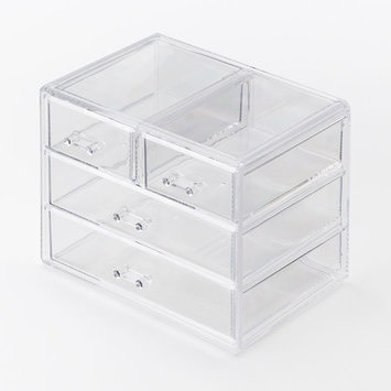 Richards Homewares 987856 Clearly Chic-Clear Stkb 4 Drawer Large