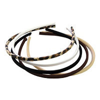 Riviera Skinny Natural Fabric Headbands 5 Ct