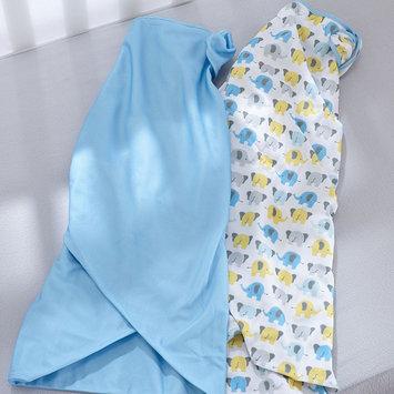 Breathable Baby Elephant 2-pk. Swaddle Blankets - Baby Boy (Blue Elephant)