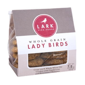 Lark Fine Foods Whole Grain Lady Birds Cranberries and Chocolate Cookies