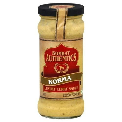 Bombay Authentics, Sauce Curry Korma, 12.25 OZ (Pack of 6)