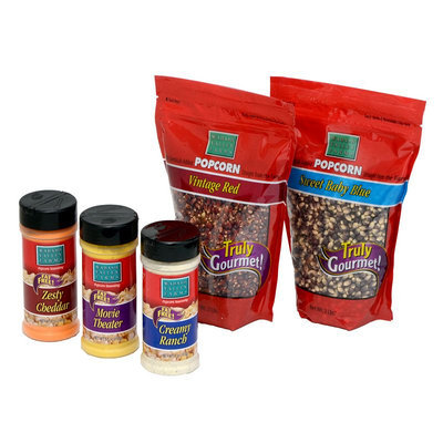 Wabash Valley Farms 5-pc. Gourmet Popping Popcorn Kernels & Classic Seasonings Set (Baby Blue/Red)