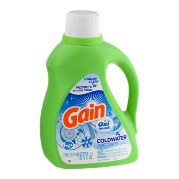 Gain Coldwater Detergent With Oxi Boost Icy Fresh Fizz