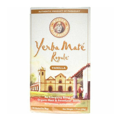 Wisdom Of the Ancients Wisdom Natural Organic Yerba Mate Royale Tea Vanilla 26 Tea Bags