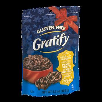 Gratify Gluten Free Pretzels Peanut Butter & Milk Chocolate