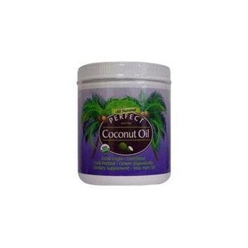 PERFECT COCONUT OIL - Purest ORGANIC Extra-Virgin Unrefined COLD-Pressed Coconut Oil - 16oz