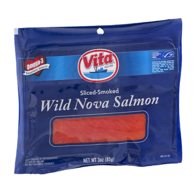 Vita Wild Nova Salmon Sliced-Smoked