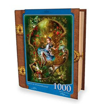 Masterpieces Puzzles Fairytales Book Box Alice in Wonderland 1000 Pcs Ages 13+