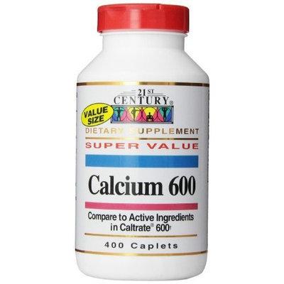 21st Century, Calcium 600 Mg Caplets, 400-Count
