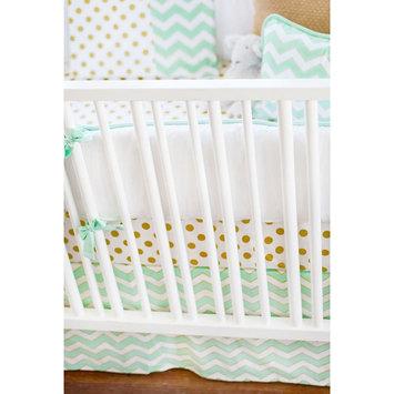 New Arrivals Gold Rush Crib Bumper (Green)