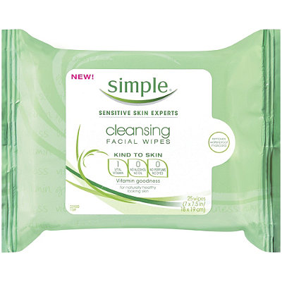 Simple® Skincare Cleansing Facial Wipes