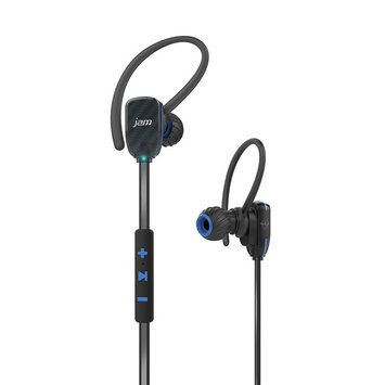 Hmdx JAM Transit Wireless Bluetooth Micro Sport Earbuds, Blue